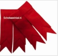 Scarlet Red Plain Coloured Garter, Flashes